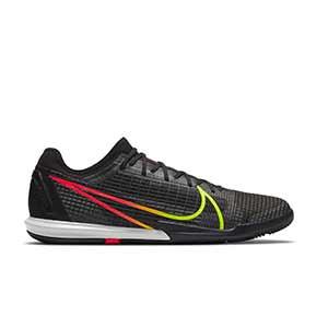 Nike Zoom Mercurial Vapor 14 PRO IC - Zapatillas de fútbol sala Nike suela lisa IC - negras - pie derecho