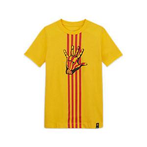 Camiseta Nike Barcelona niño El Clásico - Camiseta de algodón infantil Nike del FC Barcelona - amarilla - frontal