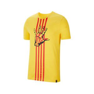 Camiseta Nike Barcelona El Clásico - Camiseta de algodón Nike del FC Barcelona - amarilla - frontal