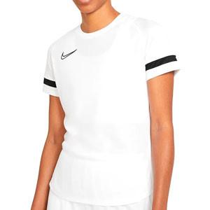 Camiseta Nike Dri-Fit Academy 21 mujer - Camiseta de maga corta de mujer para entrenamiento fútbol Nike - blanca - frontal