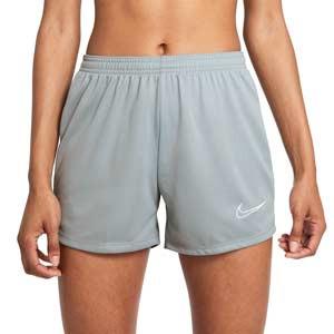 Short Nike Dri-Fit Academy 21 mujer - Pantalón corto de entrenamiento de fútbol para mujer Nike - gris - frontal