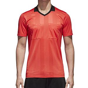 Camiseta adidas Referee 18 - Camiseta de manga larga de árbitro - roja - frontal