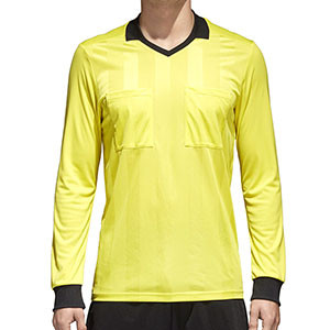 Camiseta adidas Referee - Camiseta de manga larga de árbitro - amarillo - frontal