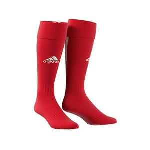 Medias adidas Santos 18 - Medias de fútbol adidas - rojas - frontal
