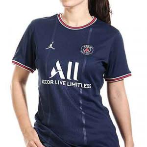 Camiseta Nike PSG x Jordan 2021 2022 mujer Dri-Fit Stadium - Camiseta primera equipación de mujer Nike x Jordan del París Saint-Germain 2021 2022 - azul marino - miniatura frontal