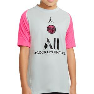 Camiseta Nike PSG entreno niño 2021 Strike - Camiseta entrenamiento infantil Nike del París Saint-Germain 2021 - gris - frontal