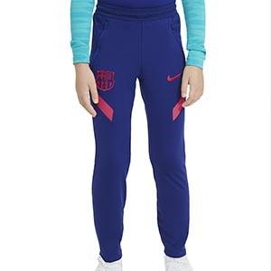 Pantalón Nike Barcelona entreno niño 2021 Strike - Pantalón largo entrenamiento infantil Nike FC Barcelona 2021 - azul marino - frontal