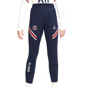 Pantalón Nike PSG x Jordan entreno 2021 2022 niño Strike - Pantalón largo infantil entrenamiento Nike x Jordan Paris Saint-Germain 2021 2022 - azul marino - frontal