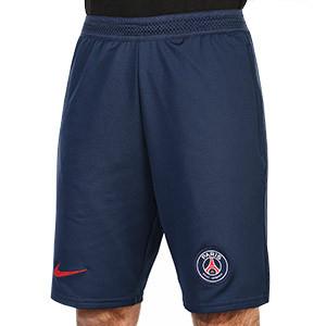 Short Nike PSG Travel - Pantalón corto de paseo Nike del París Saint-Germain 2020 2021 - azul marino - frontal