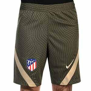 Short Nike Atlético entreno 2020 2021 Strike - Pantalón corto de entrenamiento Nike del Atlético de Madrid 2020 2021 - verde oscuro - frontal