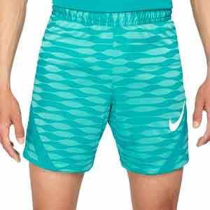 Short Nike Dri-Fit Strike 21 - Pantalón corto de entrenamiento de fútbol Nike - azul celeste - frontal