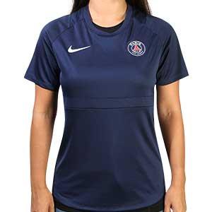Camiseta Nike PSG entreno mujer 2020 2021 Academy - Camiseta de mujer de entrenamiento del Paris Saint-Germain 2020 2021 - azul marino - frontal
