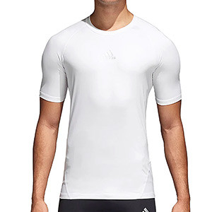 Camiseta compresiva adidas Alphaskin - Camiseta entrenamiento compresiva adidas Alphaskin - Blanco - frontal