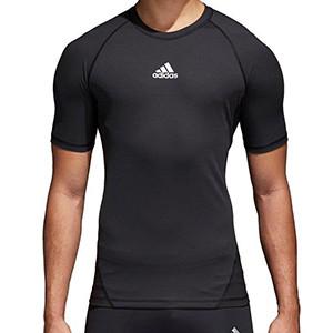 Camiseta adidas AlphaSkin - Camiseta compresiva manga corta adidas - Negro - frontal