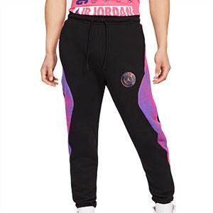 Pantalón Nike x Jordan PSG Fleece - Pantalón largo de algodón Nike x Jordan del París Saint-Germain - negro - frontal