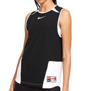 Camiseta Nike FC mujer Dri-Fit - Camiseta de tirantes de mujer Nike de la colección Joga Bonito - negra - frontal