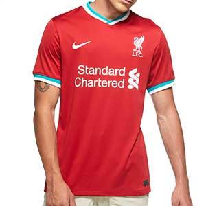 Camiseta Nike Liverpool 2020 2021 Stadium - Camiseta primera equipación Nike Liverpool FC 2020 2021 - roja - frontal