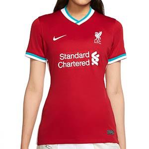 Camiseta Nike Liverpool Stadium mujer 2020 2021 - Camiseta mujer primera equipación Nike Liverpool FC 2020 2021 - roja - frontal