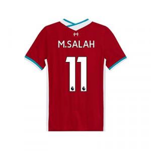 Camiseta Nike Salah Liverpool niño Stadium 2020 2021 - Camiseta infantil primera equipación Mohamed Salah Nike Liverpool FC 2020 2021 - roja - trasera