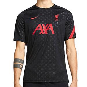 Camiseta Nike Liverpool pre-match 2020 2021 - Camiseta calentamiento pre partido del Liverpool FC 2020 2021 - negra - frontal
