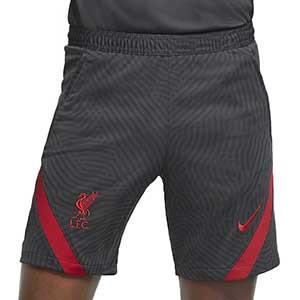 Short Nike Liverpool entreno 2020 2021 Strike - Pantalón corto de entrenamiento del Liverpool FC 2020 2021 - gris oscuro - frontal