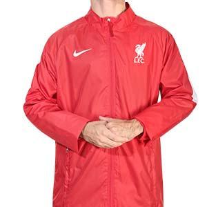 Chaqueta Nike Liverpool entreno Repel Academy 2020 2021 - Chaqueta impermeable de entrenamiento Nike del Liverpool FC 2020 2021 - roja - frontal