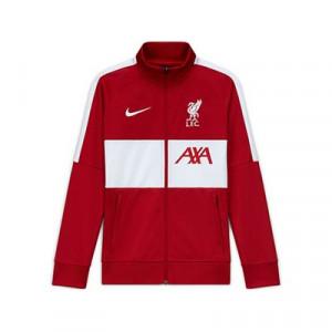 Chaqueta Nike Liverpool I96 himno 2020 2021 - Chaqueta chándal del himno Nike Liverpool FC 2020 2021 - roja y blanca - frontal