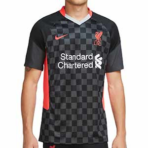 Camiseta Nike 3a Liverpool 2020 2021 Stadium - Camiseta tercera equipación Nike Liverpool FC 2020 2021 - gris oscuro - frontal
