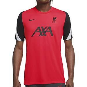 Camiseta Nike Liverpool entreno UCL 2020 2021 Strike - Camiseta de entrenamiento de la Champions League del Liverpool FC 2020 2021 - rosa rojiza - frontal