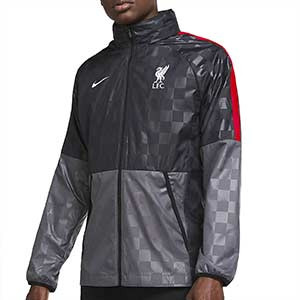 Cortavientos Nike Liverpool All Weather Fan UCL - Cortavientos Nike del Liverpool FC 2020 2021 - gris - frontal