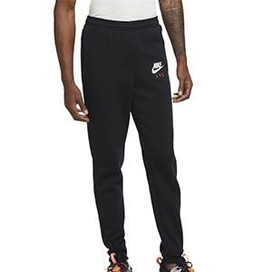 Pantalón Nike Liverpool Fleece UCL 2020 2021 - Pantalón largo de algodón Nike del Liverpool de la Champions 2020 2021 - negro - frontal