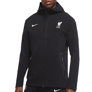 Chaqueta Nike Liverpool Tech Pack Hoodie - Chaqueta con capucha Nike del Liverpool FC - negra - frontal