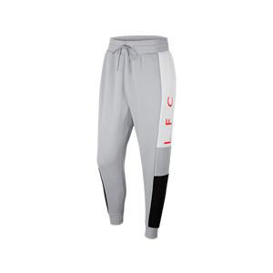 Pantalón Nike Liverpool Fleece - Pantalón largo de algodón Nike del Liverpool FC - gris - frontal