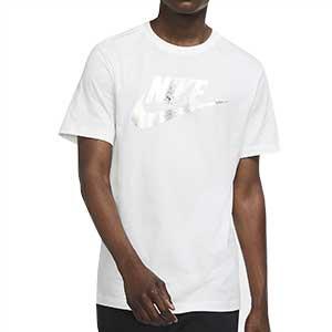 Camiseta algodón Nike Futura - Camiseta de algodón de calle Nike - blanca - frontal