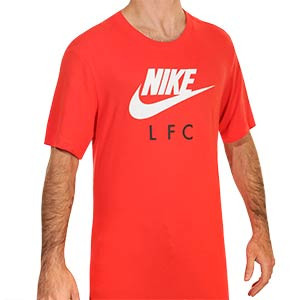 Camiseta Nike Liverpool Ground - Camiseta de algodón Nike del Liverpool FC - roja - frontal