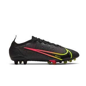 Nike Mercurial Vapor 14 Elite AG - Botas de fútbol Nike AG para césped artificial - negras - pie derecho