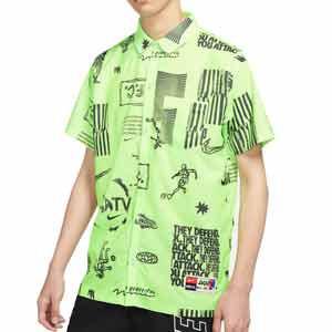 Camisa Nike FC Dri-Fit Joga Bonito - Camisa Nike de la colección Joga Bonito - verde y negra - frontal