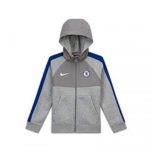 Chaqueta Nike Chelsea niño Sports Wear Hybrid - Chaqueta con capucha infantil de algodón del Chelsea FC 2020 2021 - gris - frontal
