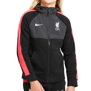 Chaqueta Nike Liverpool 2020 2021 niño - Chaqueta de chándal infantil Nike del Liverpool FC 2020 2021 - negra - frontal