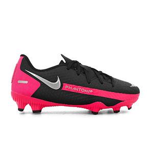 Nike Phantom GT Academy FG/MG Jr PS - Botas de fútbol infantiles Nike FG/MG para césped artificial - negras - pie derecho
