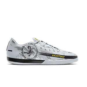 Nike Phantom GT Academy IC - Zapatillas de fútbol sala suela lisa IC - plateadas - pie derecho