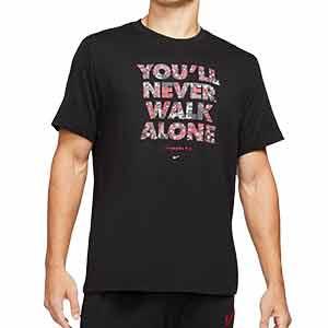 Camiseta Nike Liverpool Voice - Camiseta algodón Nike Liverpool FC - negra - frontal