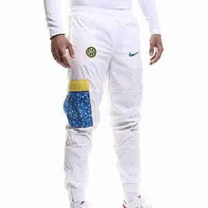 Pantalón Nike Inter Woven - Pantalón largo de calle Nike del Inter de Milán - blanco - miniatura frontal
