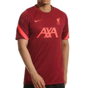 Camiseta Nike Liverpool entrenamiento Dri-Fit Strike - Camiseta de entrenamiento Nike del Liverpool FC - granate - frontal