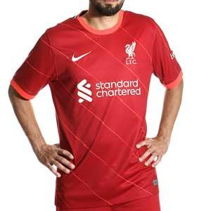 Camiseta Nike Liverpool 2021 2022 Dri-Fit Stadium - Camiseta primera equipación Nike Liverpool FC 2021 2022 - roja - frontal