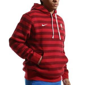 Sudadera Nike Liverpool Sportswear Club Hoodie - Sudadera con capucha de algodón Nike del Liverpool FC - roja - frontal