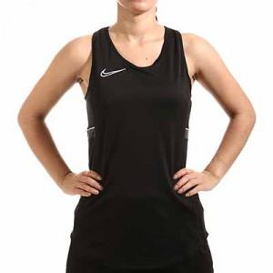 Camiseta tirantes Nike Dri-Fit Academy 21 mujer - Camiseta sin mangas de entrenamiento de fútbol para mujer Nike - negra - miniatura frontal