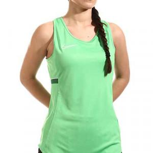 Camiseta tirantes Nike Dri-Fit Academy 21 mujer - Camiseta sin mangas de entrenamiento de fútbol para mujer Nike - verde - miniatura frontal