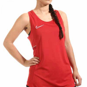 Camiseta tirantes Nike Dri-Fit Academy 21 mujer - Camiseta sin mangas de entrenamiento de fútbol para mujer Nike - roja - miniatura frontal