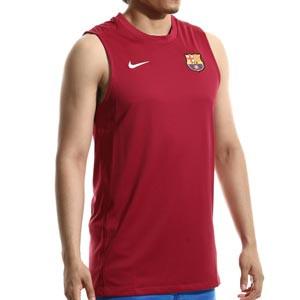 Camiseta tirantes Nike Barcelona entrenamiento Dri-Fit Strike - Camiseta sin mangas de entrenamiento Nike del FC Barcelona - granate - frontal